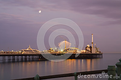Bighton pier at night