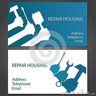Biglietto da visita per la riparazione domestica for Progettazione della costruzione domestica