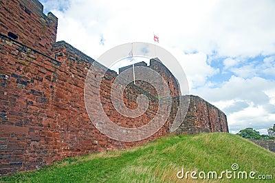 Bij de kasteelmuren
