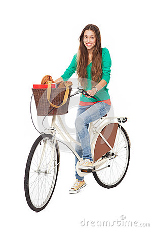Женщина на bike