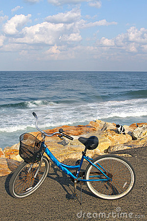 Bike on a beach