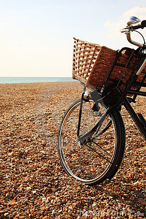 Bike on the beach at Brighton