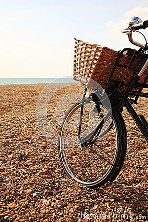 Bike on the beach at Brighton
