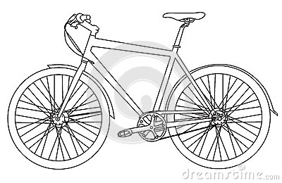 Simple bicycle illustration - photo#9
