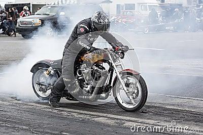 Bike burnout Editorial Image