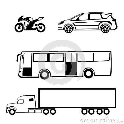 Bike Car Bus Truck Royalty Free Stock Photography - Image ...