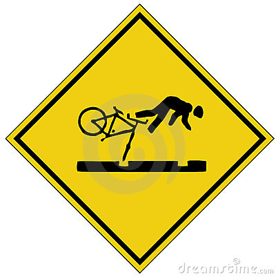 Bike crash sign (AI format available)