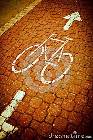 bike/cycling lane in a city