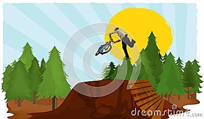 Bike dirt vector jump