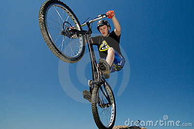 The bike extreme trick