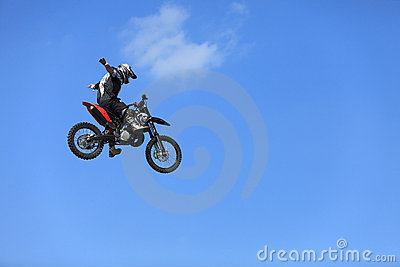 Bike flight Editorial Stock Image