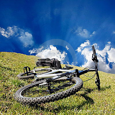 Bike on grass