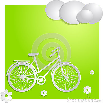 Bike with green background