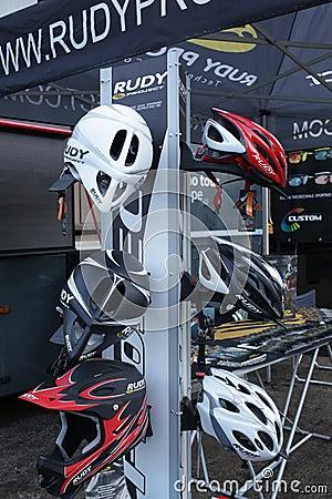 Bike helmets Editorial Stock Image