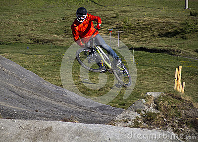 Bike jump Editorial Stock Photo