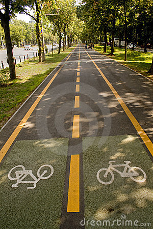 Free Bike Lane Stock Photography - 6650582