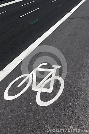 Bike lane on road
