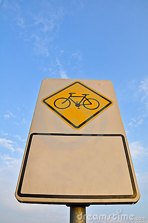 Free Bike Lane Sign Royalty Free Stock Photography - 16881777