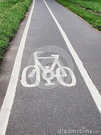 Free Bike Lane Sign Stock Photography - 20076652