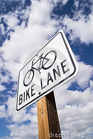 Free Bike Lane Sign. Stock Images - 40931554