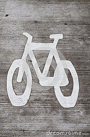 Bike Lane Stencil