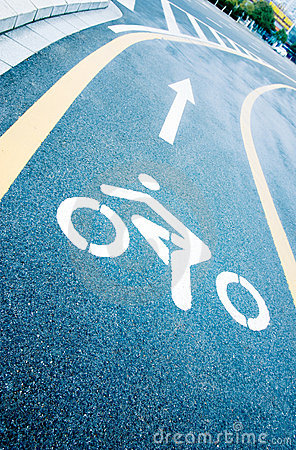 Bike lanes on the road