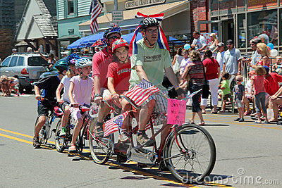 Bike in Parade Editorial Stock Photo