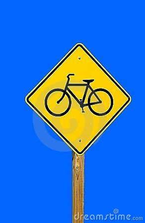 Free Bike Path Sign Royalty Free Stock Photos - 1497528