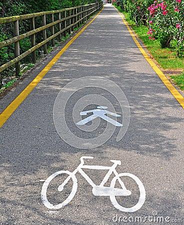 Bike and pedestrian zone