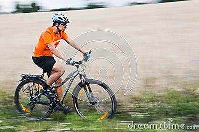 Bike race near field
