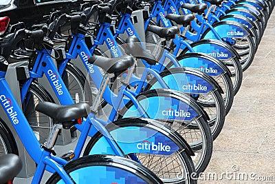 Bike rental in New York Editorial Image