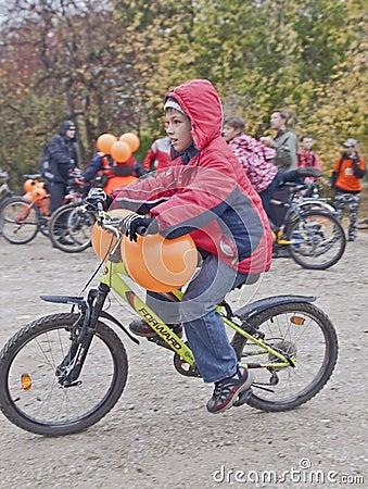Bike Ride Critical Mass Editorial Stock Image