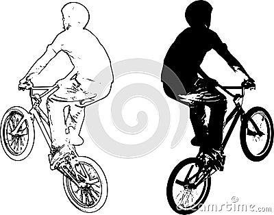 Bike riders vector