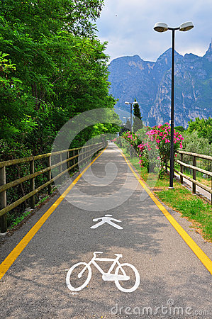 Bike road in Italy