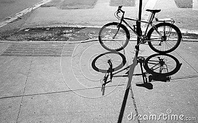 Bike and shadow