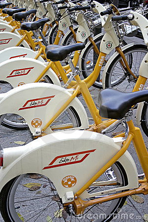 Bike sharing Editorial Image