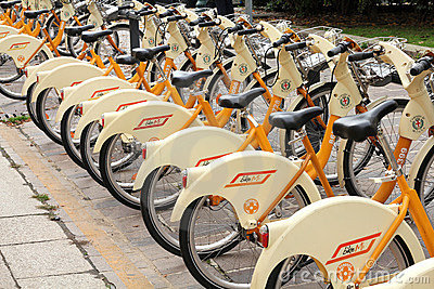Bike sharing Editorial Stock Image