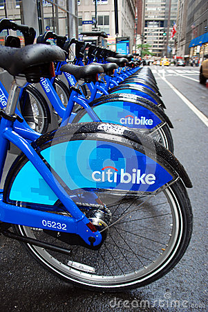 Bike sharing in New York Editorial Photo