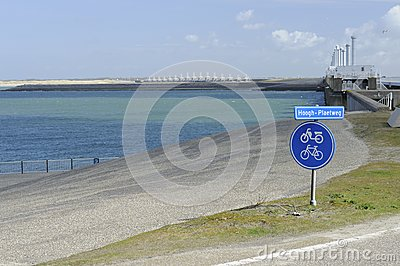 Bike signpost at pijlerdam, netherlands