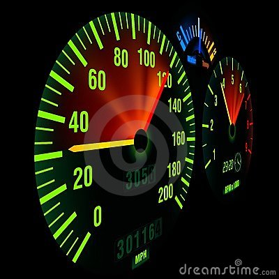 Free Bike Speedometer Royalty Free Stock Image - 3349266