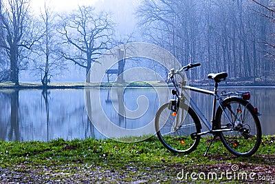 Bike in  spring morning