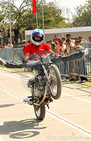 Bike stunt Editorial Stock Photo