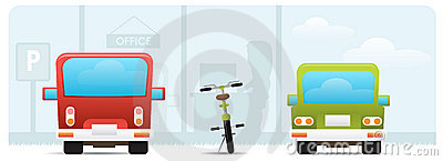 Bike to work concept