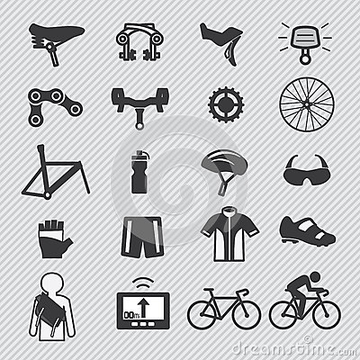Free Bike Tools And Equipment Part Icon Stock Photography - 34039322
