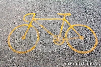 Bike way symbol