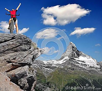 Biker in Alps