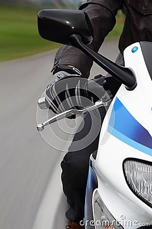 Biker close-up