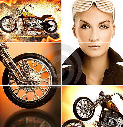 Free Biker Collage Stock Photography - 8994242
