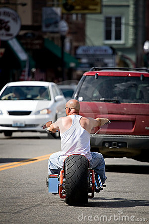 Biker dude Editorial Photo
