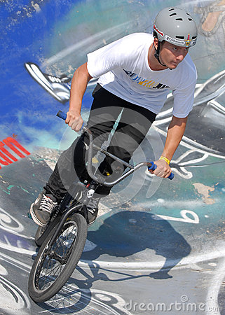 Free Biker During Contest At Summer Urban Festival Royalty Free Stock Photo - 74998695